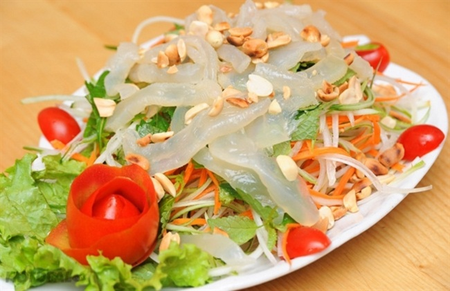 Nộm sứa món ngon tốt cho sức khỏe